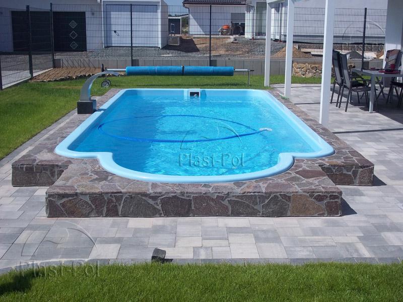 Gfk schwimmbecken swimming pool 10 50x3 70x1 55 for Fertigbecken pool