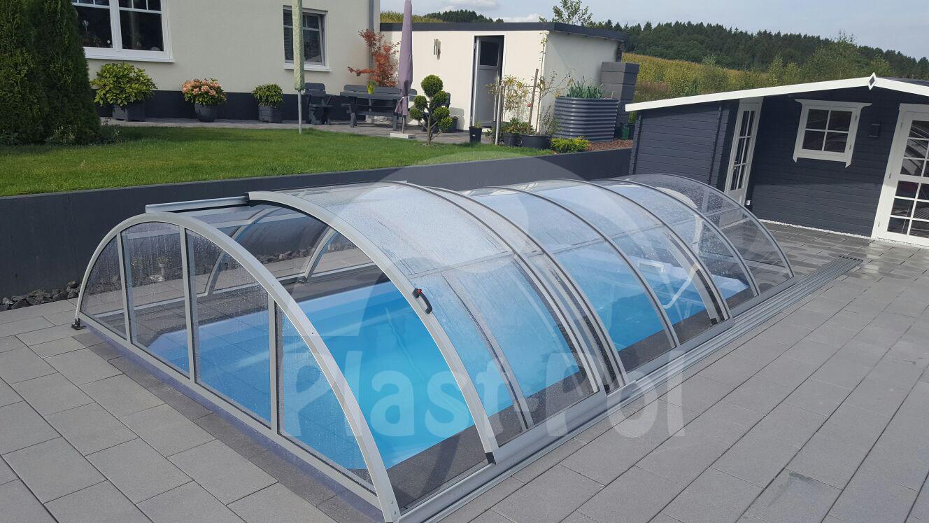 Gfk Schwimmbecken Überdachung 8 Poolhalle,Pool Abdeckung 840x415x130 ...